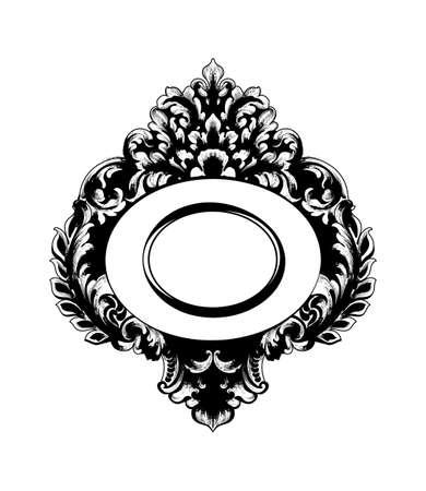 Imperial Baroque Mirror frame Vector. Illustration