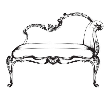 Rich baroque armchair