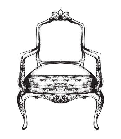 Rich baroque armchair