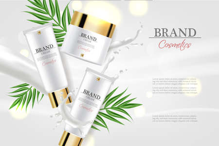 Cosmetics cream moisturizer hydration  realistic. Banque d'images - 122395105