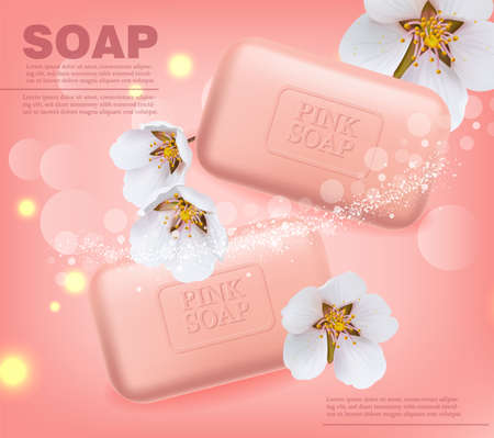Soap Vector realistic mock up. Product placement label design.