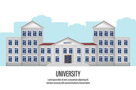 Architectural facade university Standard-Bild - 128816564