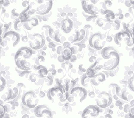 Classic elegant ornament pattern watercolor vector. Beige delicate color textures