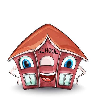 School house  Cartoon characters Stock Illustratie