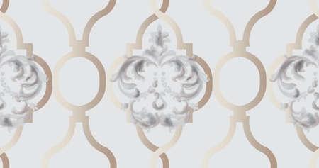 Arabic golden ornament pattern
