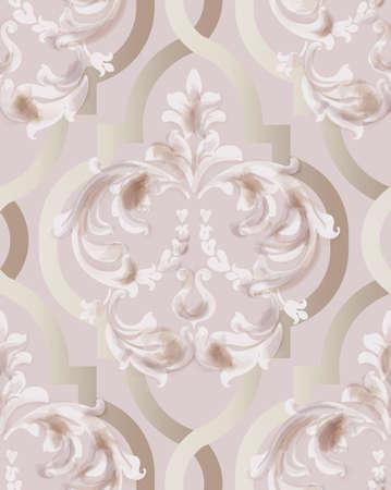 Arabic golden rose ornament pattern Stock Illustratie