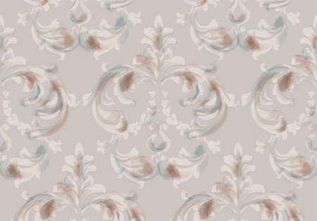 Arabic baroque ornament pattern Stock Illustratie