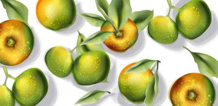 Apple fruits pattern  watercolor. Stock Illustratie