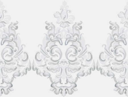 Baroque ornament Vector. Luxury watercolor trendy texture. Vintage retro old styled