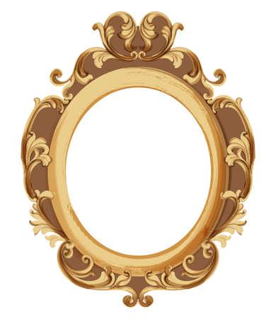 Baroque luxury golden frame Standard-Bild - 130257808