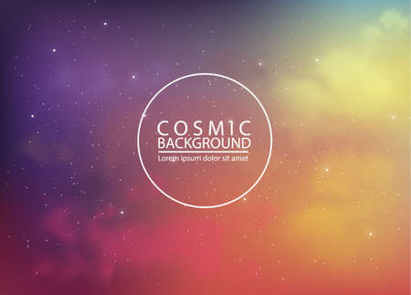 Cosmic  with abstract colors