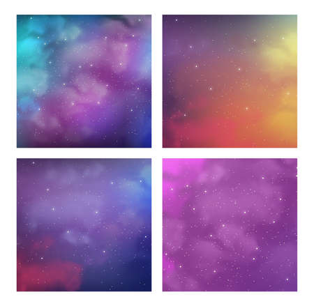 Pack of cosmic with magic bright colors