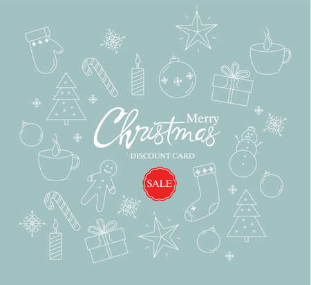 Merry christmas sale discount card