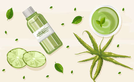 Organic aloe vera treatment composition