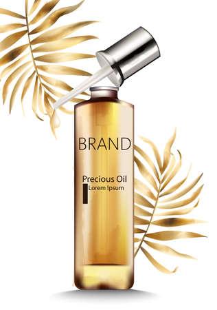 Precious oil bottle with dropper Ilustração