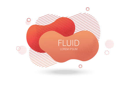 Fluid lines design with colorful red waves and curly lines Ilustração