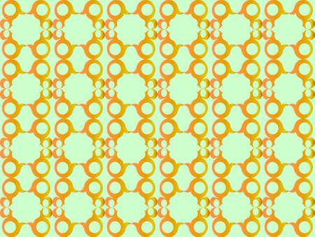 Golden shapes design pattern. Bright colors. Vintage look. Vector