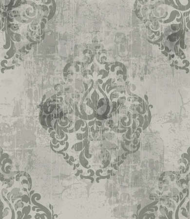 Imperial vintage ornament pattern. Royal victorian design. Grunge style