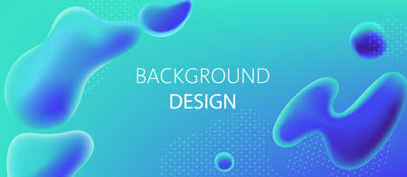 Abstract background design of water alike blobs and white dots pattern. Realistic 3D mockup product placement