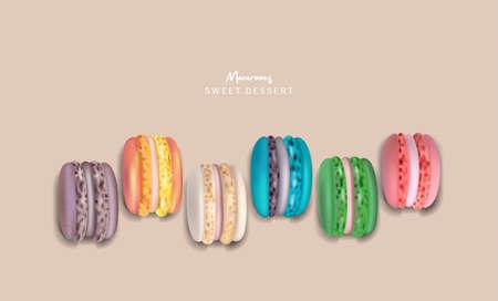 Colorful macaroons set