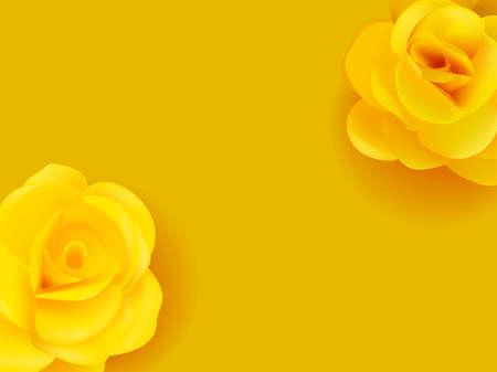 Yellow flowers. Summer decor poster illustrations Illustration