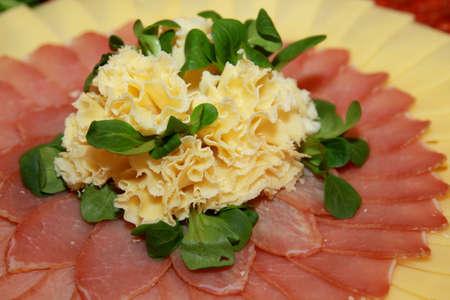butcher s shop: Cold cut plate, close up