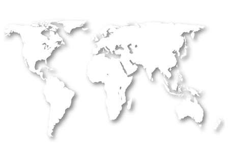 interlace:  world map Stock Photo