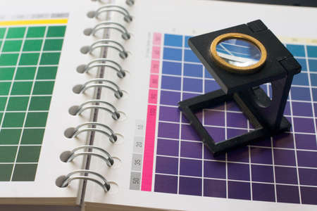 muster: CMYK color check on printed paper - Colour muster 1