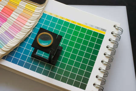 muster: CMYK color check on printed paper - Colour muster 4
