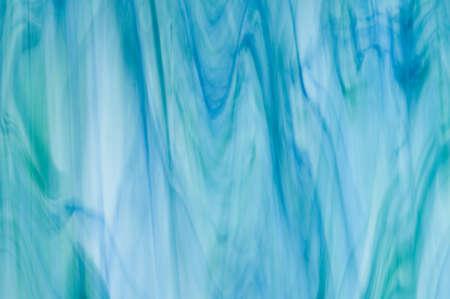 Blue-Green streaky glass photo