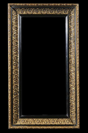 palmate: Neoclassical Gold and Ebony Frame with Palmate Pattern