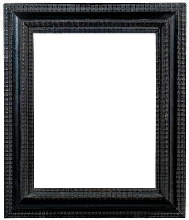 Ebony Ripple Wood Frame Stockfoto