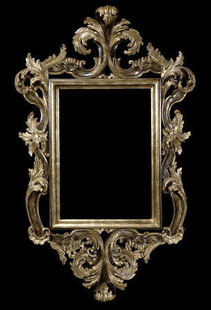 Baroque gilded frame with elaborately carved edges Фото со стока