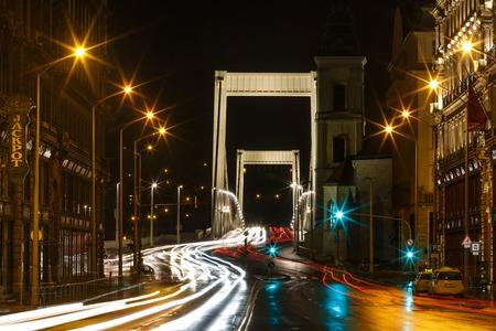 elisabeth: Elisabeth Bridge at night in Budapest, Hungary