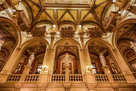 Opera state house, inside interior, Vienna. Austria Editorial