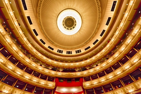 Balconies of Vienna Opera House indoor, Austria Publikacyjne
