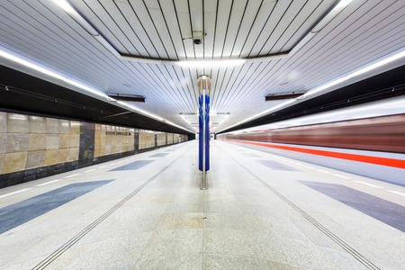 rapid steel: Subway station in the Prague on the long exposure