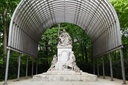 wagner: Monument Wilhelm Richard Wagner in Berlin, Germany Editorial