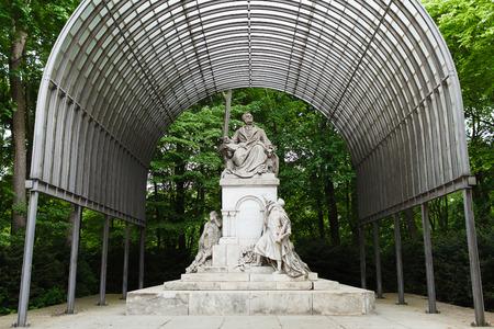 richard: Monument Wilhelm Richard Wagner in Berlin, Germany Editorial