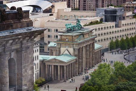 winning location: Areal view of Brandenburg Gate, Berlin, Germany