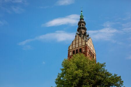 st nicholas cathedral: Tower of St. Nicholas Cathedral in Elblag