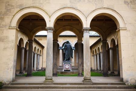 bowman: Statue in a park of Sanssouci, Potsdam, Germany