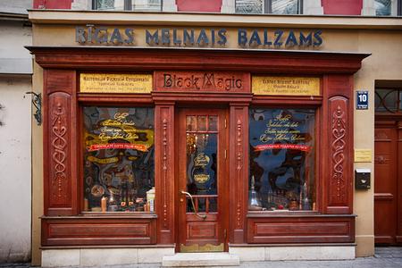 balsam: Riga, Latvia, March 09 2014: Shop Riga balsam beverage