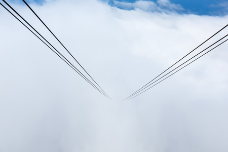 cableway: Way of the cable car in the sky at Tahtali mountain