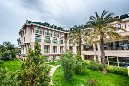 Luxury hotel in the garden in resort town of Turkey