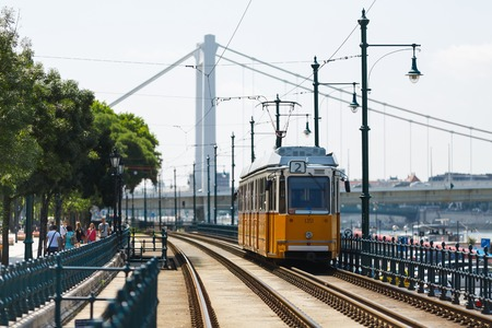 Tramway at summer day in Budapest, Hungary