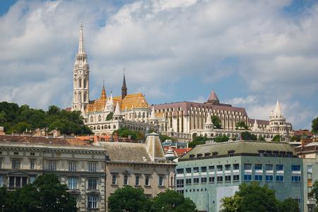 matthias: Matthias church in Budapest at summer time