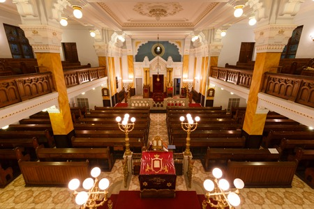 Interior of Bethlen teri synagogue in Budapest, Hungary Editorial