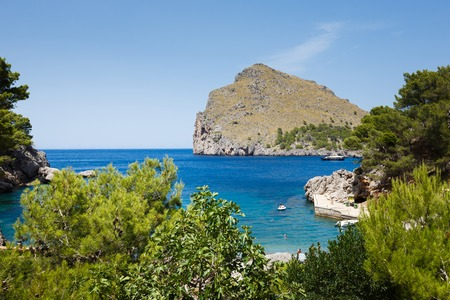sa: View of Sa Calobra bay in Mallorca, Spain