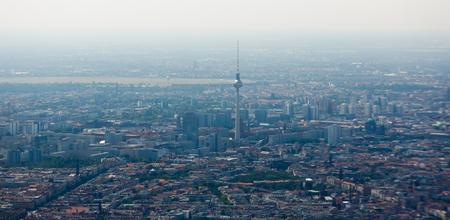 spandau: Aerial view of Berlin at summer time